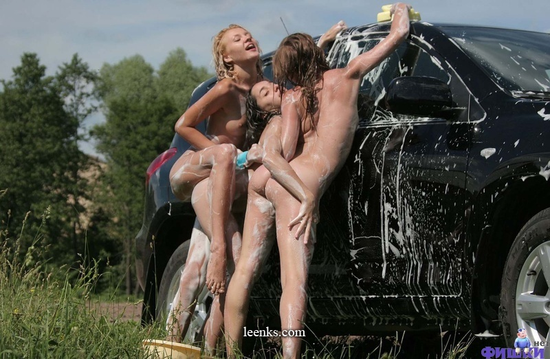 Lesbian Rose And Friends Carwash Beauties Satisfaction Is Guaranteed 1