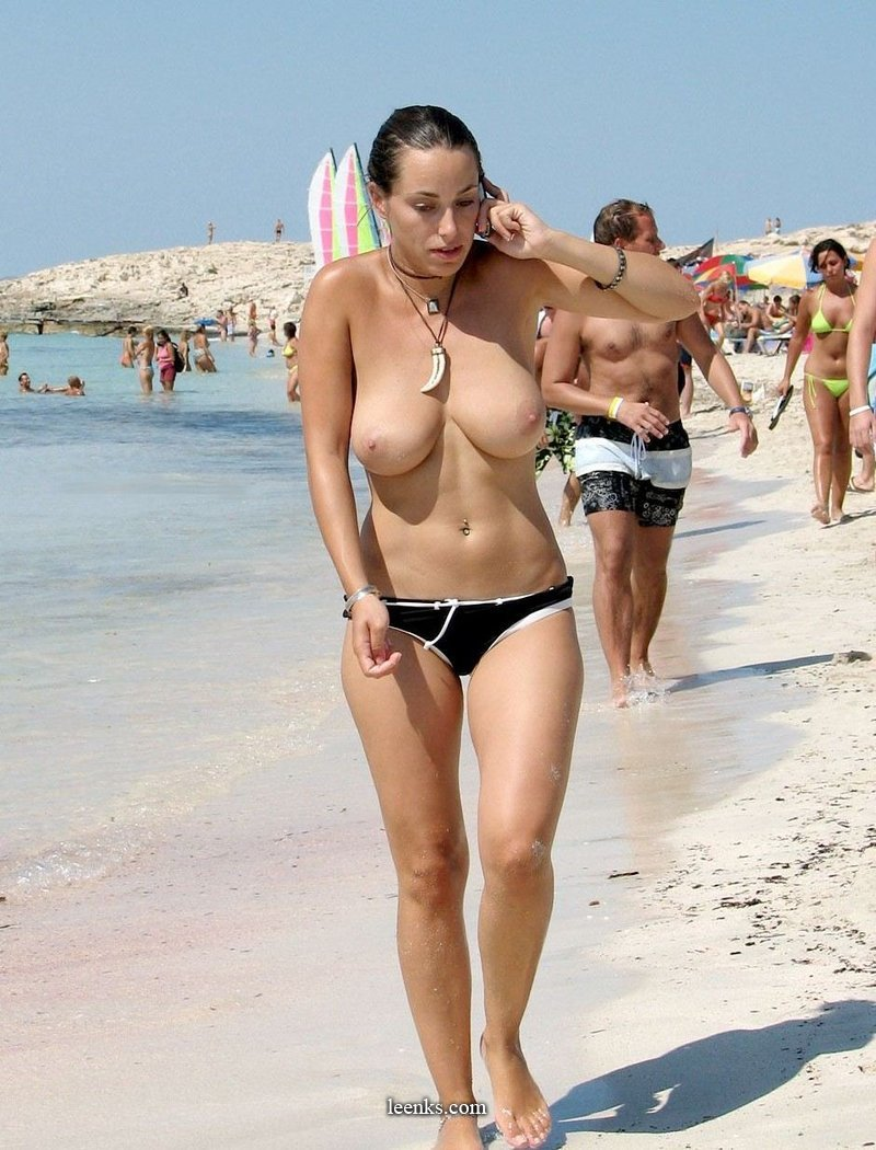 topless and nude on the beach - leenks